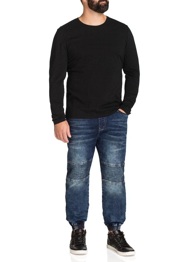 johnny bigg male johnny bigg bradley crew neck long sleeve black 2 xl
