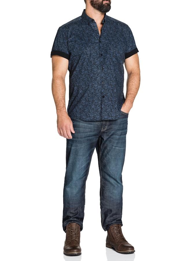 johnny bigg male johnny bigg clarke stretch print shirt navy 5 xl