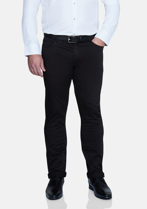 Black Benny Stretch 5 Pkt Chino Pant