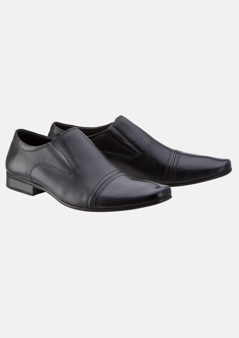 Black Bourbon Slip On Shoe