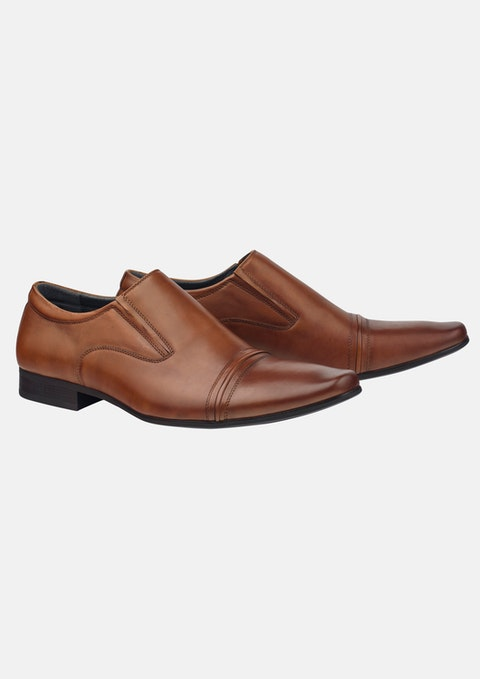 Tan Bourbon Slip On Shoe