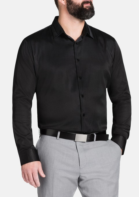 Black Tobias Dress Shirt