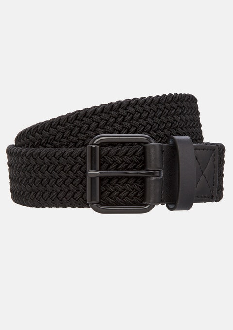 Black Mandalay Stretch Belt