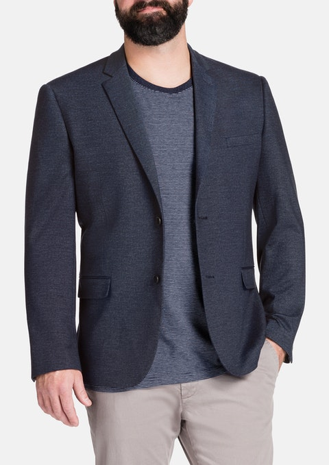 Navy Iconic Stretch Jacket