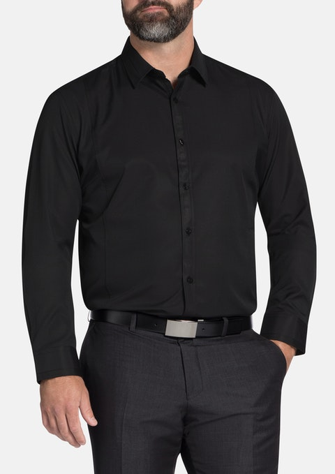 Black Chambers Dress Shirt