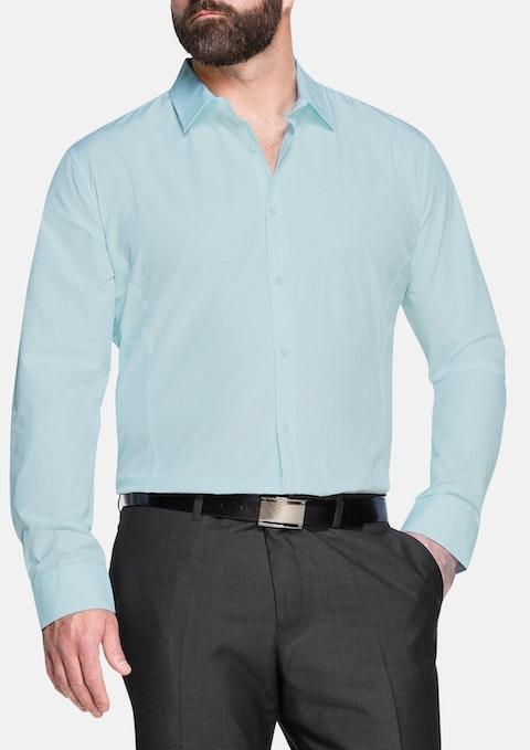 Aqua Hall Mini Check Dress Shirt