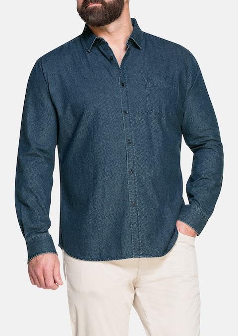 Navy Jansan Print Shirt