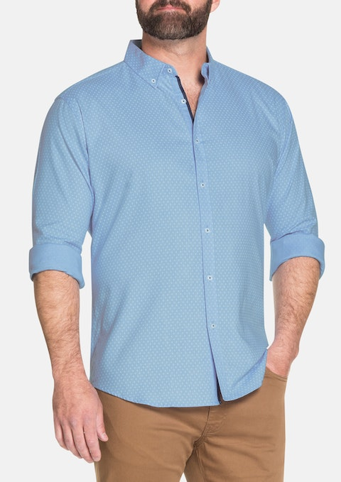 Blue Hudson Textured Shirt