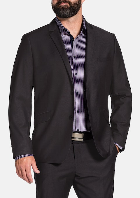 Charcoal Ledger 2 Button Suit Jacket