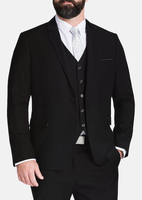 Black Gibson Trim Suit Jacket