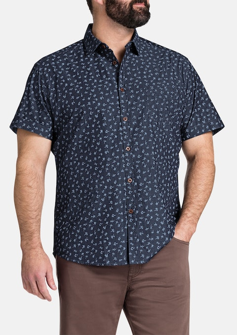 Denim Wilco Print Shirt