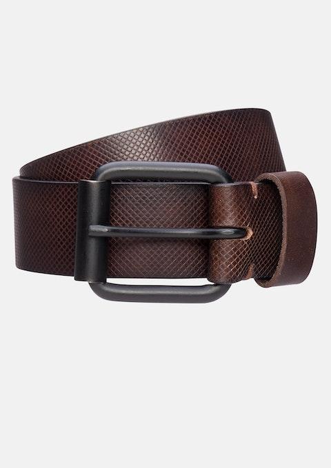 Tan Satellite Leather Prong Belt