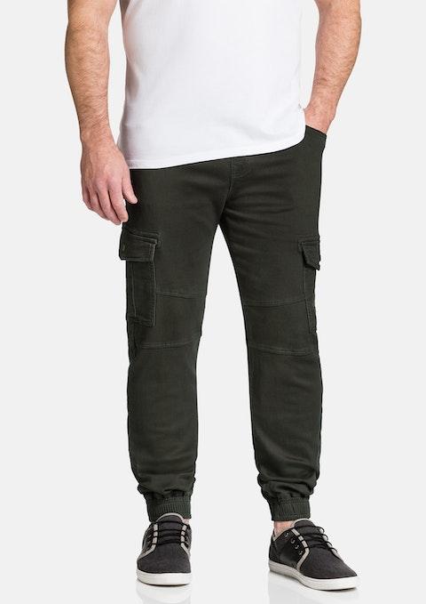 Khaki Turner Stretch Cuff Pant