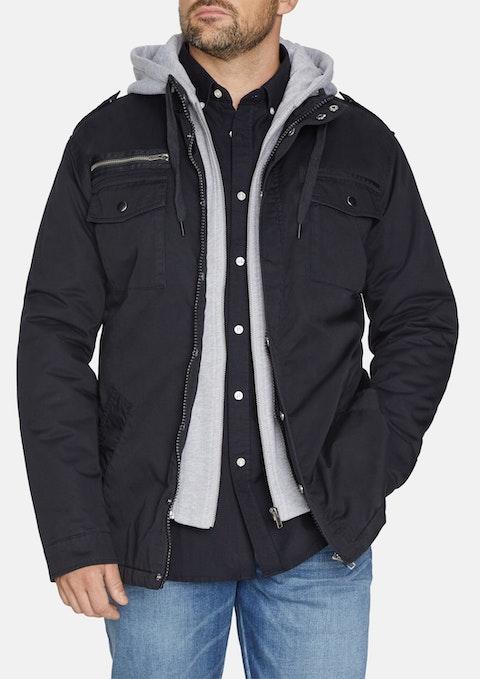 Black Reserve Hooded Jacket