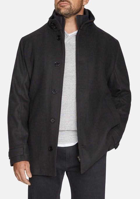 Black Danbury Wool Blend Jacket
