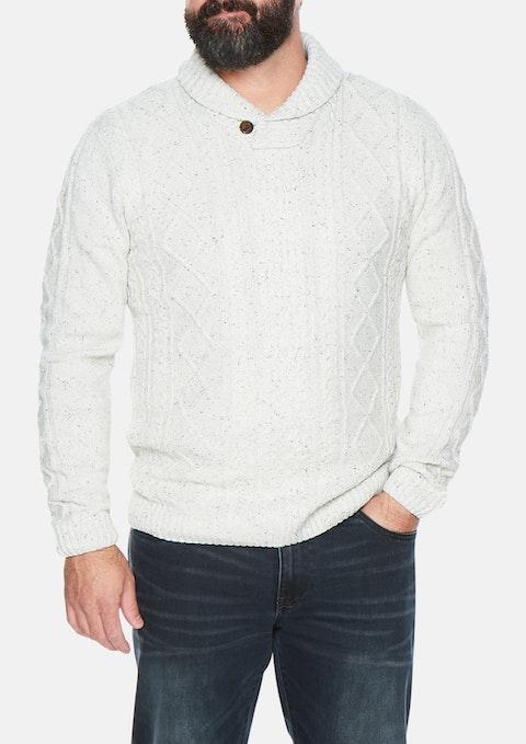 Oatmeal Josh Shawl Collar Knit