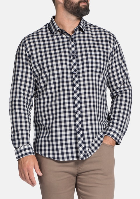 Navy Perry Check Shirt