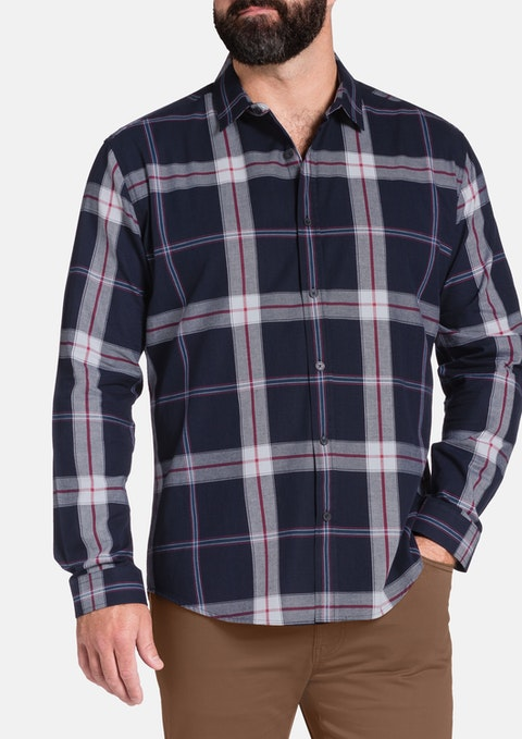 Navy Nico Check Shirt