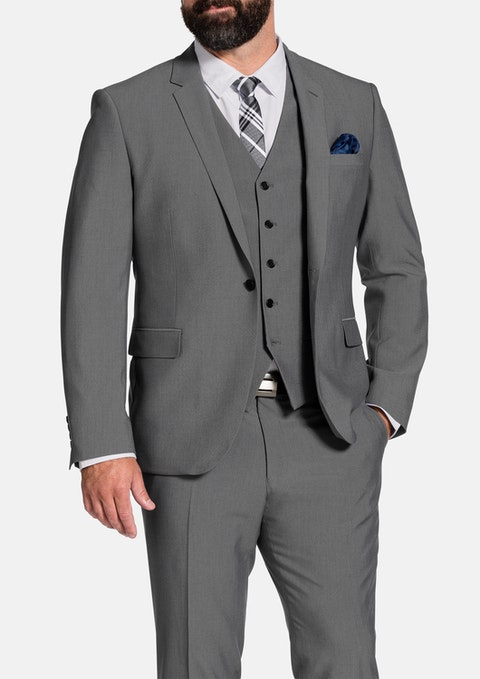 Pewter Shelby Stretch Suit Jacket