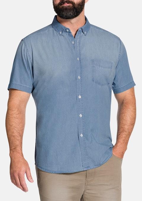 Denim Macca Denim Print Shirt