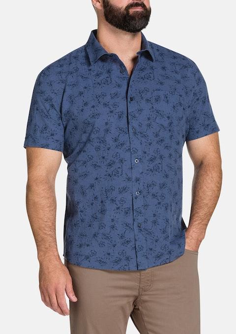 Blue Lennon Print Shirt