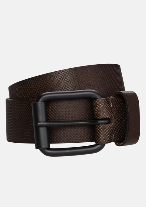 Tan Satellite Leather Prong Belt