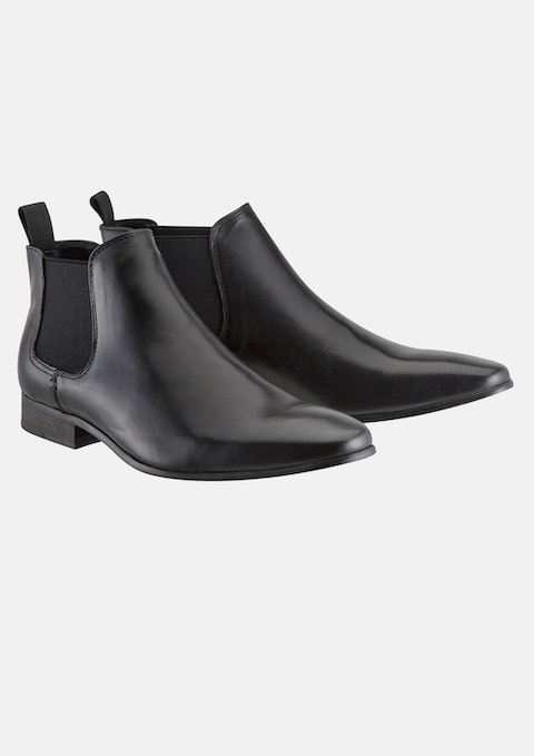 Black New Acton Gusset Boot
