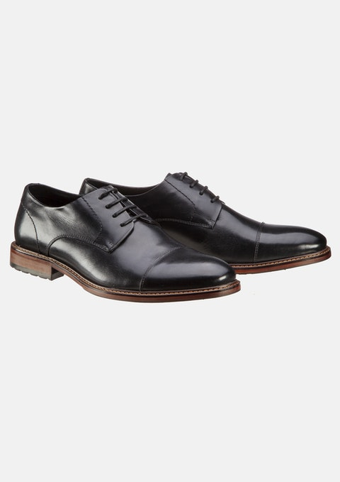 Black James Wide Dress Shoe