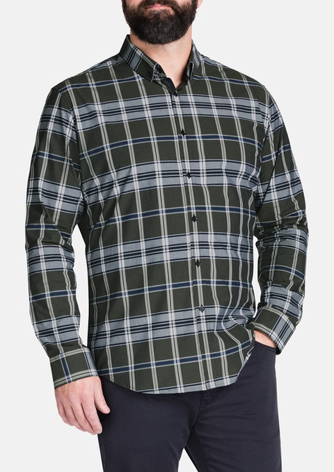 Khaki Fraser Check Shirt