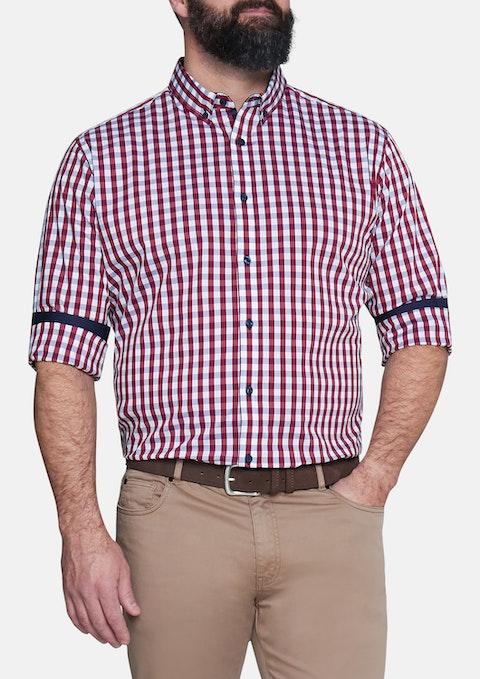 Burgundy Apollo Check Shirt
