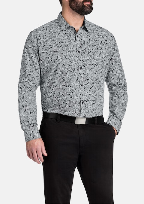 Black Power Paisley Print Shirt