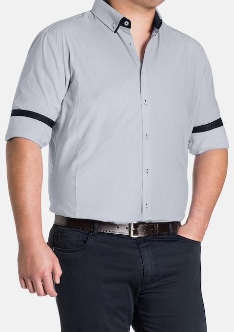 White Carringbah Stretch Print Shirt