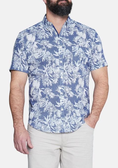 16a351162eb Blue Aloha Print Shirt