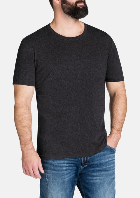Charcoal Essential Crew Neck Tee