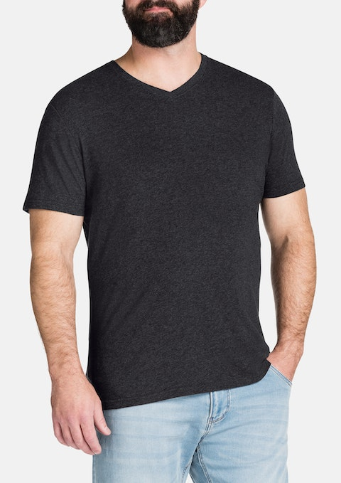 Charcoal Essential V-neck Tee