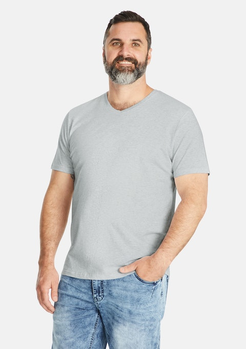 Grey Marle Essential V-neck Tee
