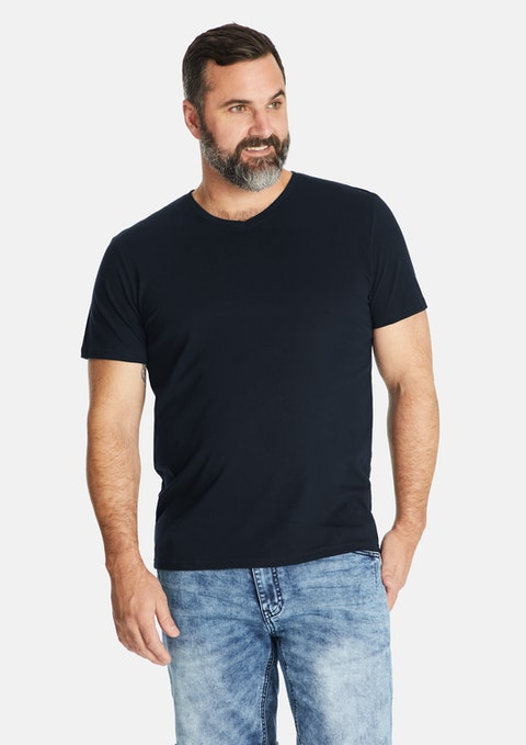 Navy Essential V-neck Tee