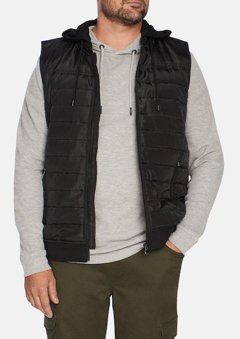 Black Ozzy Hood Puffer Vest