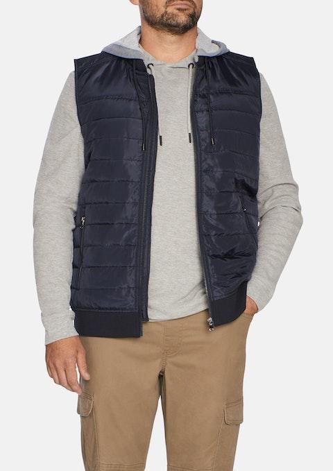 Navy Ozzy Hood Puffer Vest
