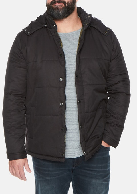 Black Cameron Puffer Jacket