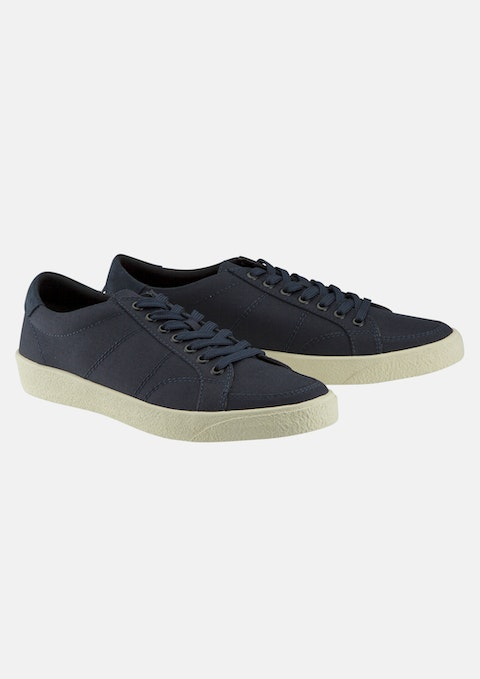 Navy Canvas Lace Up Shoe