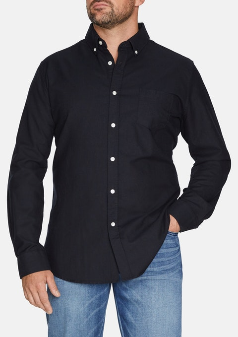 Black Essential Oxford Shirt