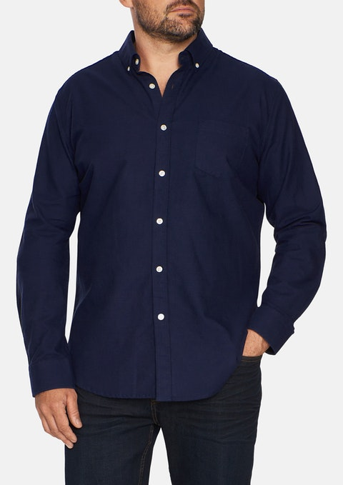 Navy Essential Oxford Shirt