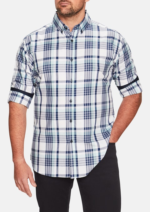 Aqua Essential Check Shirt