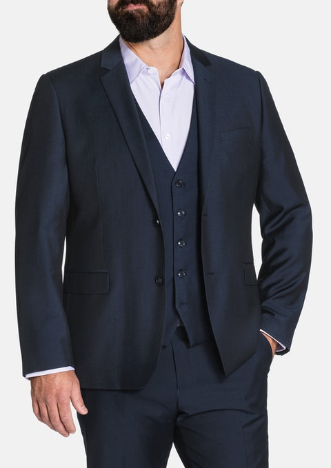 Midnight Vincent 2 Button Suit Jkt