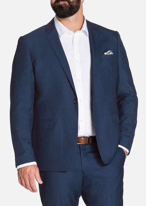 Blue Mercer 1 Button Suit Jkt