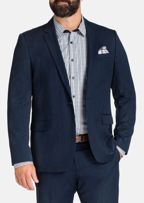 Navy Regent 1 Button Suit Jkt