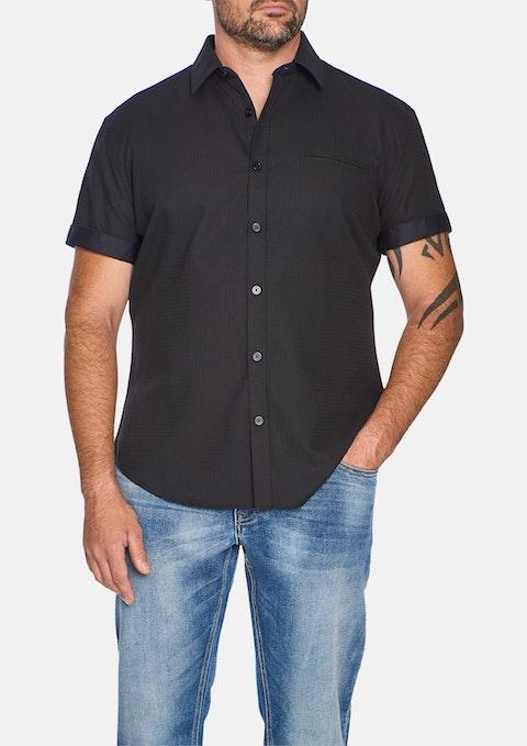 Black Donny Jacquard Shirt