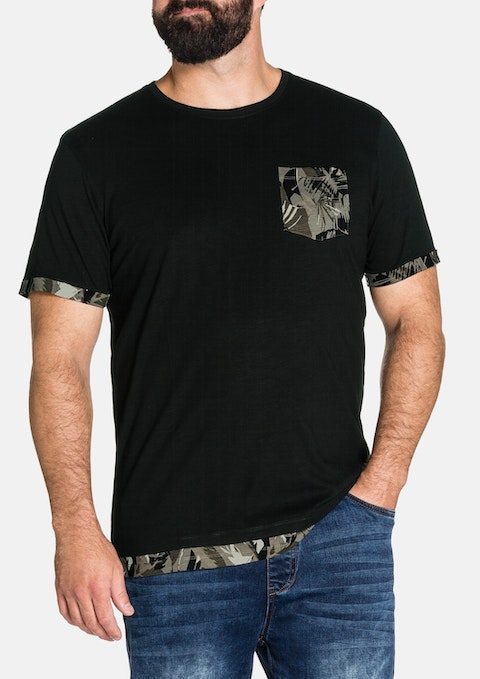 Black Camo Pocket Tee
