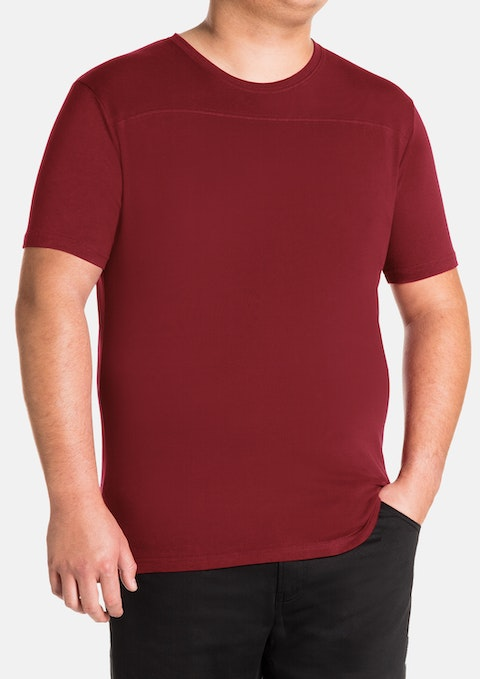 Red Essential Panel Crew Tee